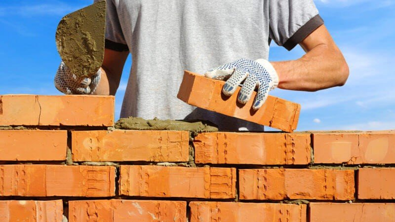 construction with glove